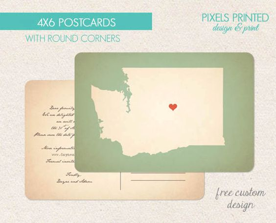 custom postcards - thank you cards - thick - color both sides ...