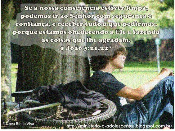 Ministério Adolescentes: Versículo -  1 João 3:21,22