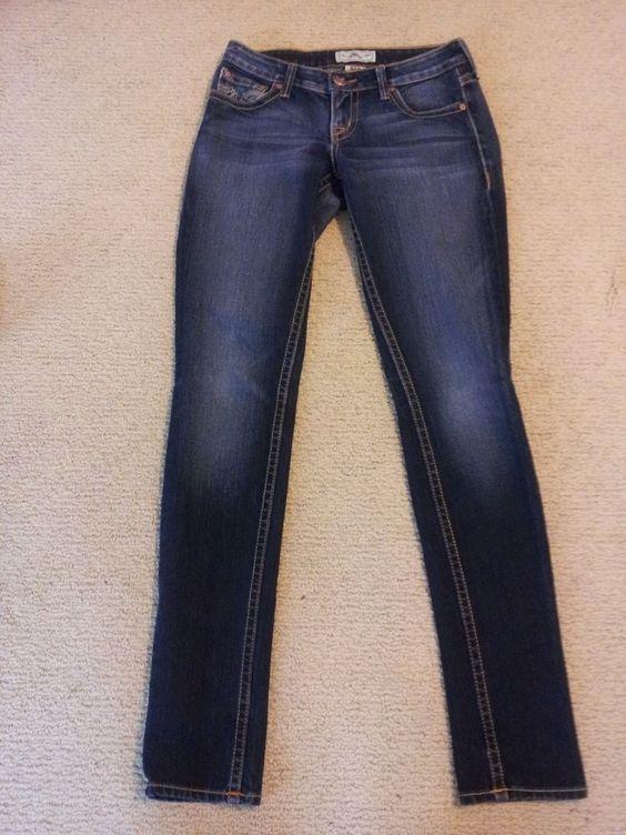 PRVCY Premium Womens Slim Stretch Dark Wash Denim LONDON Jeans Size 26 #PRVCY #SlimSkinny