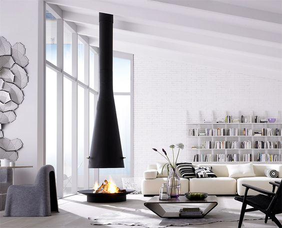 kamine wei e wohnzimmer and wei e einrichtungen on pinterest. Black Bedroom Furniture Sets. Home Design Ideas