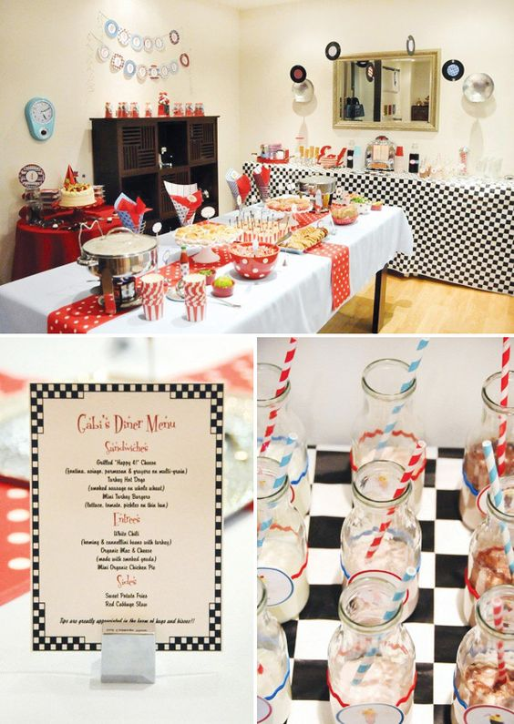 50's diner party ideas: