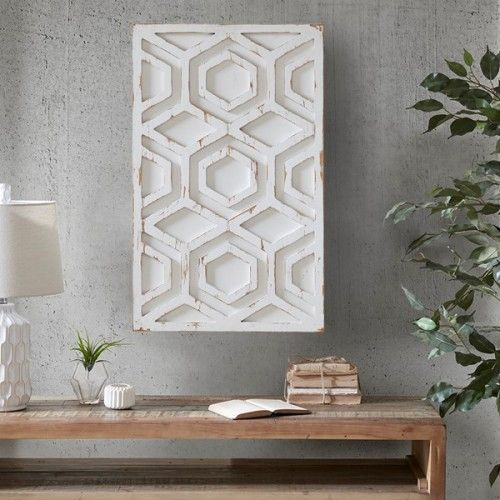 Worn Rustic White Geometric Wood Wall Art Wooden Wall Decor Wooden Wall Art Wood Wall Art