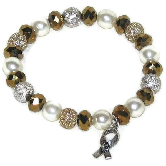 Gold Swarovski Crystal Pearl Beaded Childhood by curetheblueribbon, $15.95