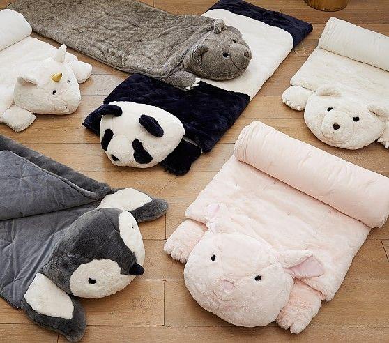 Faux Fur Sleeping Bags Kids Sleeping Bags Animal Sleeping Bag Kids Bedding Sets