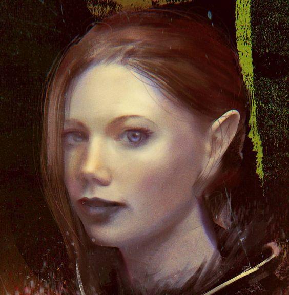 Elven girl (closeup) 😃 #conceptart #conceptdesign #digitalpainting #painting…