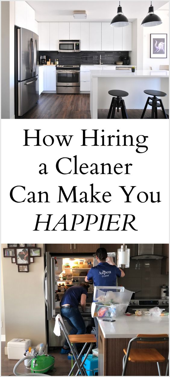 Hiring a cleaner makes me happier #happiness #momlife #cleaning