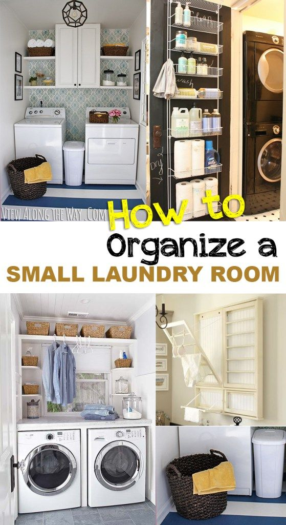 How to organize a small laundry room organization hacks small space organization and room - Organize small space property ...