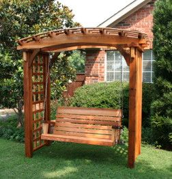 Japanese pergola swing garden magic pinterest arbors for Japanese garden trellis designs