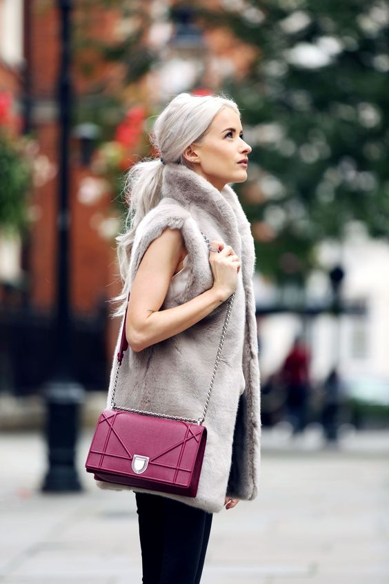 I couldn't be more excited for the cooler weather and I'm celebrating by wearing this beautiful grey faux fur Reiss Gilet