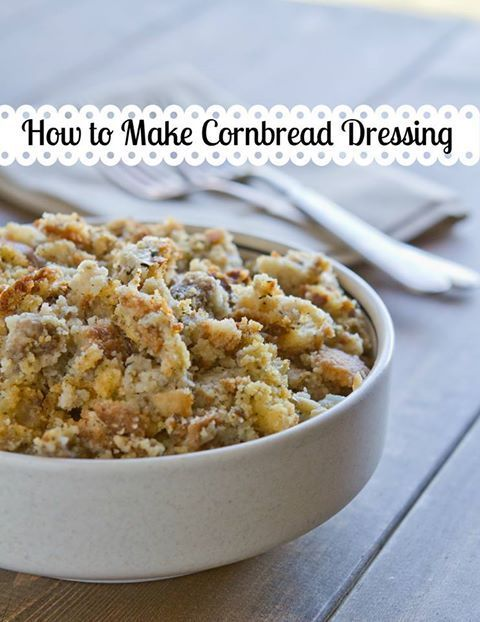 A simple recipe for cornbread dressing. It's so easy you can make it on a weeknight.