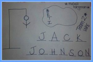 Musical Hangman (great for adolescent and adult groups!)