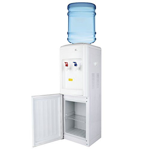 Kuppet 5 Gallon Water Cooler Dispenser Top Loading Freestanding Water Dispenser With Storage Cabinet Two Te Water Dispenser Water Coolers Hot Water Dispensers