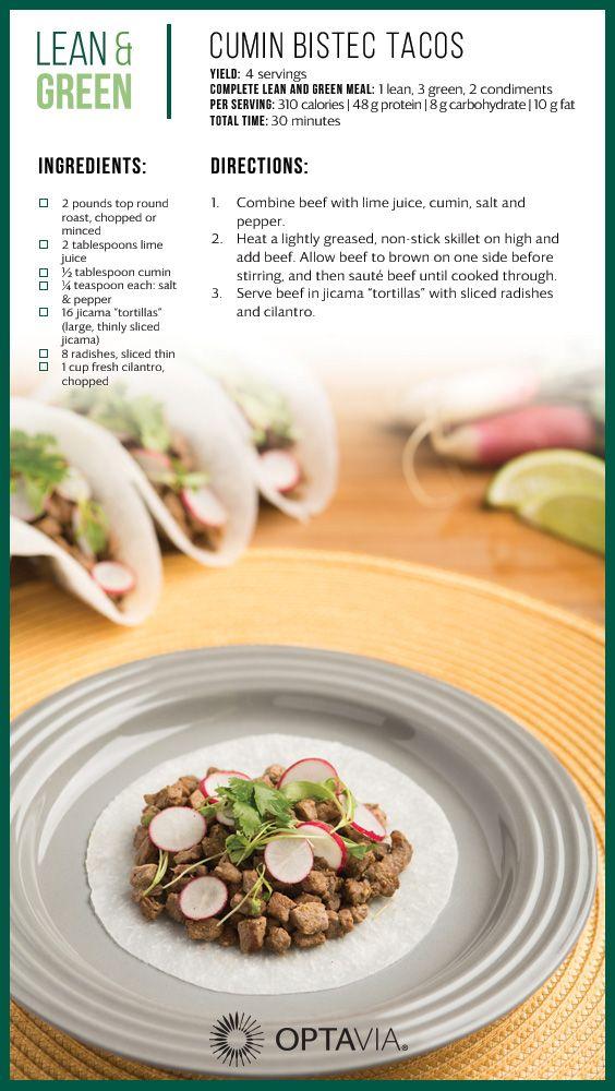 Cumin Bistec Tacos Lean And Green Meals Greens Recipe Healthy Eating Habits