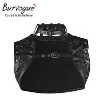 Gothic Sleeveless Steampunk Corset Jacket Jacquard Lace up Corset Jacket