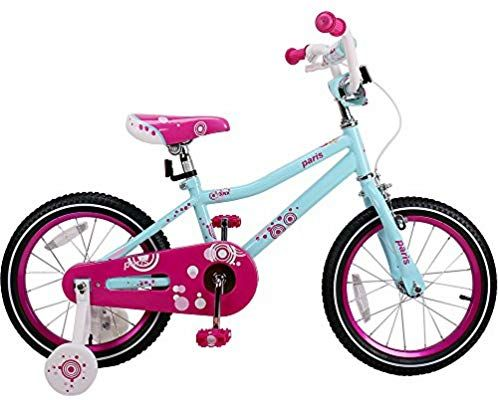 Amazon Com Joystar 14 Aluminum Kids Bike With Training Wheels For 3 5 Years Girls Bicycle Bike Sports Bike With Training Wheels Kids Bike Kids Bicycle