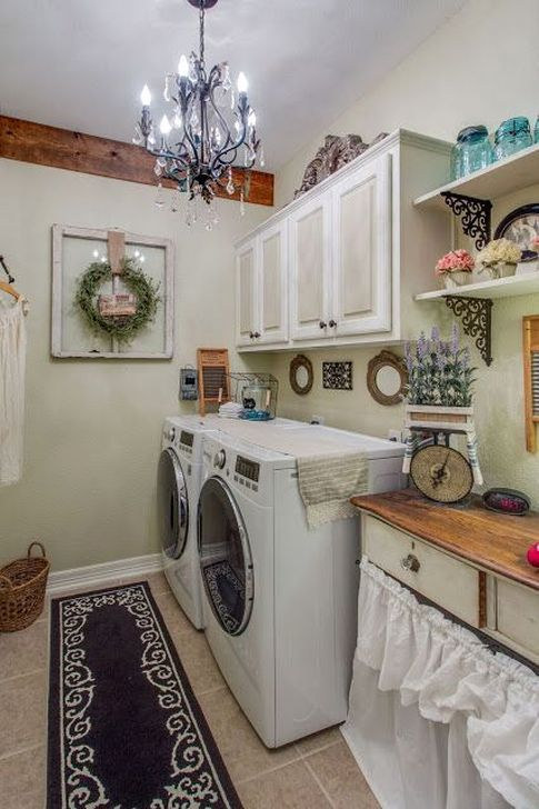 Innovative Laundry Room Design With French Country Style Vintage Laundry Room Decor Vintage Laundry Room Laundry Room Design