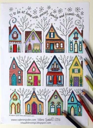 Pin Von Ana Guillen Auf Calendar In 2020 Hauser Zeichnen Malvorlagen Haus Quilts