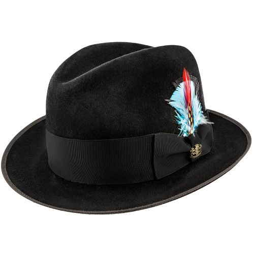 Lisbon Biltmore Fur Felt Fedora Hat Bf4347 Mens Dress Hats Hats For Men Fedora Hat