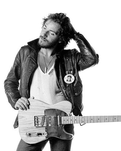 The Boss - in leather with a string vest. He makes me wanna learn to play guitar.