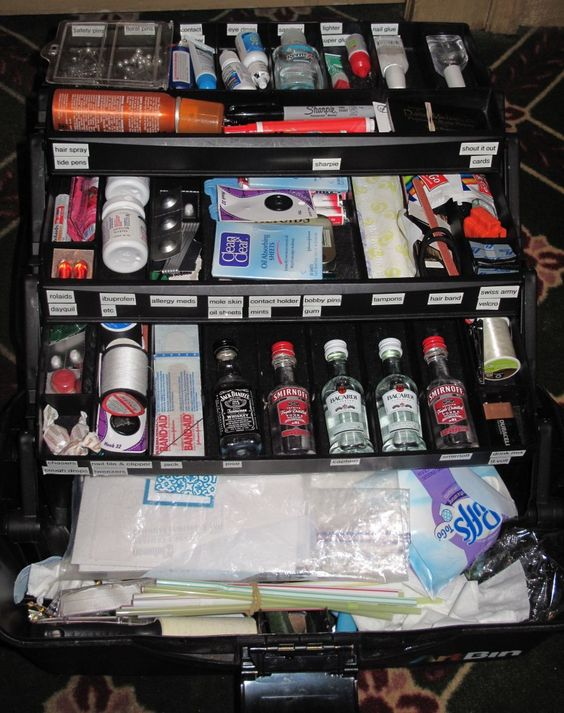 Wedding Emergency Kit- Tackle box - this is awesome.
