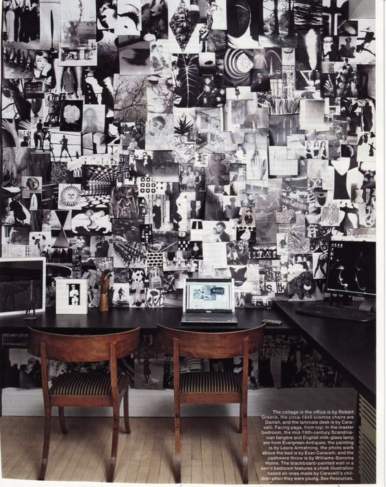 Study Ins[iration Wall - by Paula Caravelli in Elle Decor Magazine