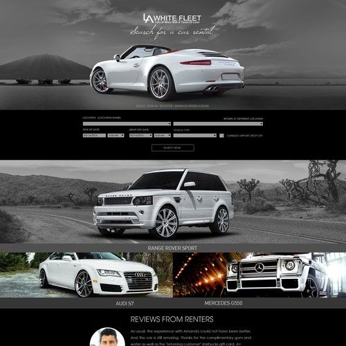 Design Website For Luxury Car Rental Site La White Fleet Is A Car Share Rental Company That Books Through Another Site Called Relayrides Com