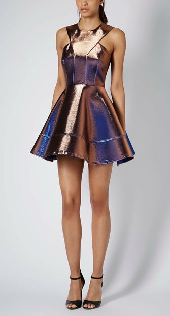 topshop metallic dress - I really like this fabric for the high fashion Athenian characters- This particular bodice shape also looks a little like a breastplate, may be good for the Amazon Hippolyta?