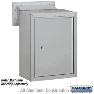 receptacle   option for mail drop   aluminum