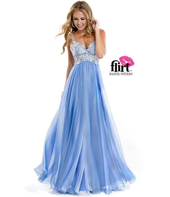 Flirt by Maggie Sottero 2014 Prom Dresses - French Blue Chiffon ...