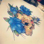 Rose And Sugar skull by ~heartsandanchors on deviantART