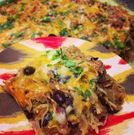 Mexican spaghetti, Black beans and Spaghetti squash bake ...