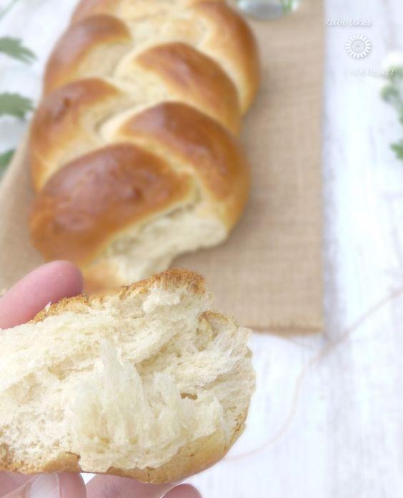 Trenza de pan de leche, pan de leche, blog de repostería, receta de pan fácil, pan a mano, pan de leche y chocolate, pan para principiantes