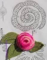 Resultado de imagem para flores em croche graficos