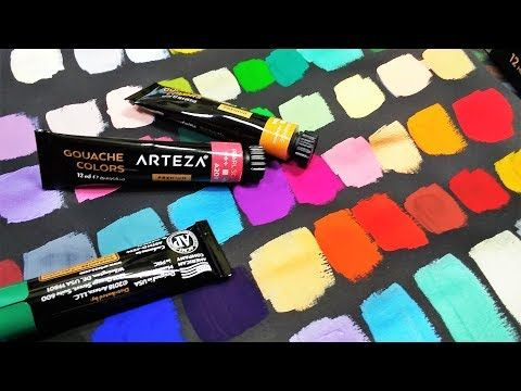 Arteza Gouache Metallic 60 Color Set Review Youtube Color