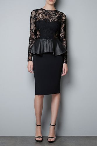 Lace and leather we're loving from Zara