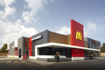 Google advertising and search on pinterest for Mcdonalds exterior design