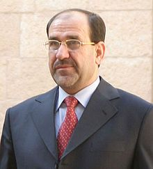 Nouri al-Maliki, Prime Minister of Iraq and the secretary-general of the Islamic Dawa Party. Al-Maliki and his government succeeded the Iraqi Transitional Government.