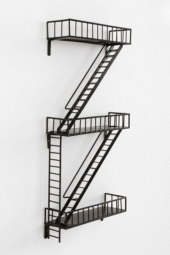 Fire Escape Wall Shelves And Urban Outfitters Store On