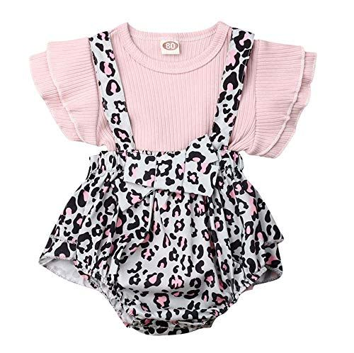 Toddler Infant Baby Girls Cute Suspenders Floral Vest Ruffle Shorts Outfits Set