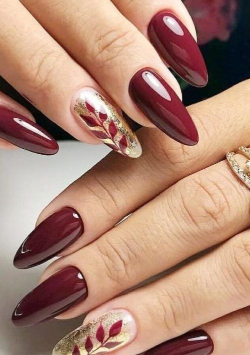 30 Gorgeous Burgundy Nail Color With Designs Follow Lifestyle In 2020 Maroon Nails Burgundy Nails Acrylic Nails