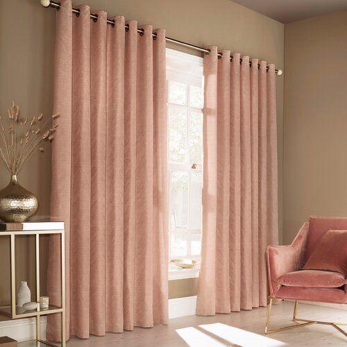 Vorhang Edison Mit Osen 1 Stuck Blickdicht Maison Alouette Farbe Blush Pink Panelgrosse Breite 117cm X Tropf Rosa Vorhange Gold Wohnzimmer Rosa Wohnzimmer