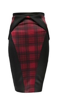 Stunning…. *sigh*   Boohoo Ava Tartan Checked Origami Pleat Midi Skirt