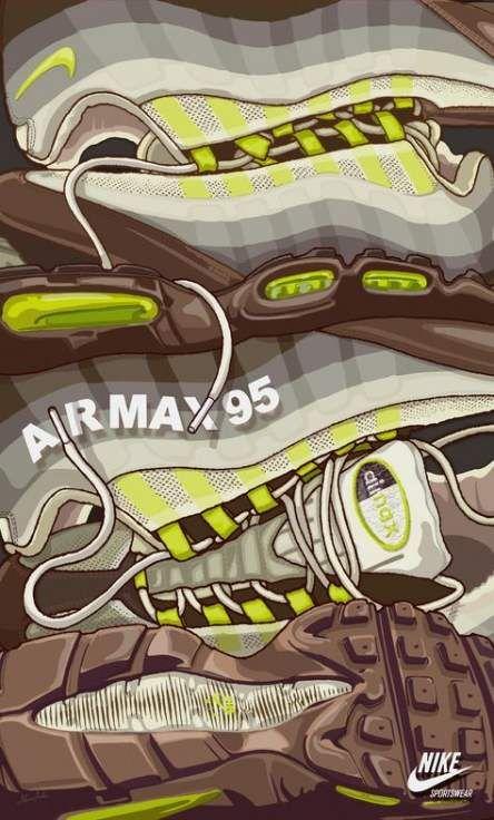 Sneakers art nike 39 Ideas | Sneaker art, Air max 95, Nike art