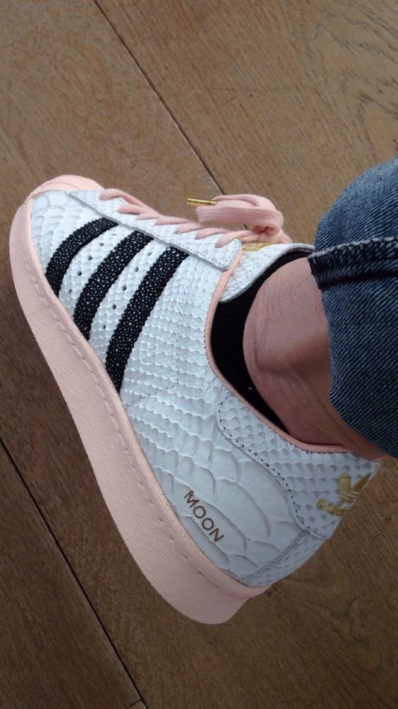 Adidas Superstar Roze Croco Print