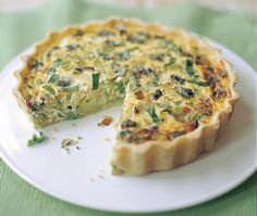 easy recipe for quiche filled with leeks and blue cheese