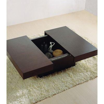 Hokku Designs Nile Rectangular Motion Storage Coffee Table in Wenge... Storage, Storage