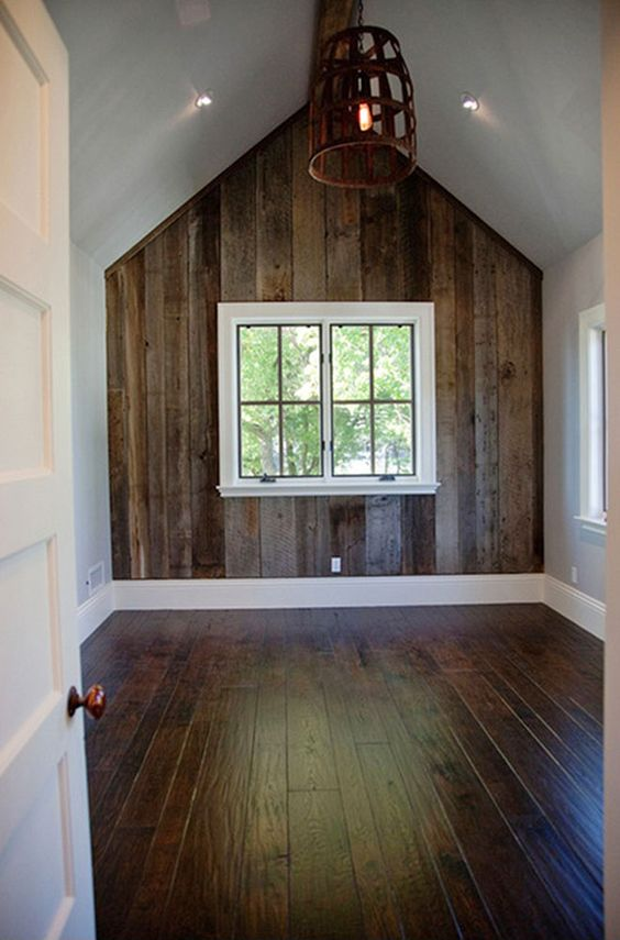 barnwood wainscoating | Barn Siding & Paneling | Arc Wood & Timbers- Isaiah would love this in his room!: