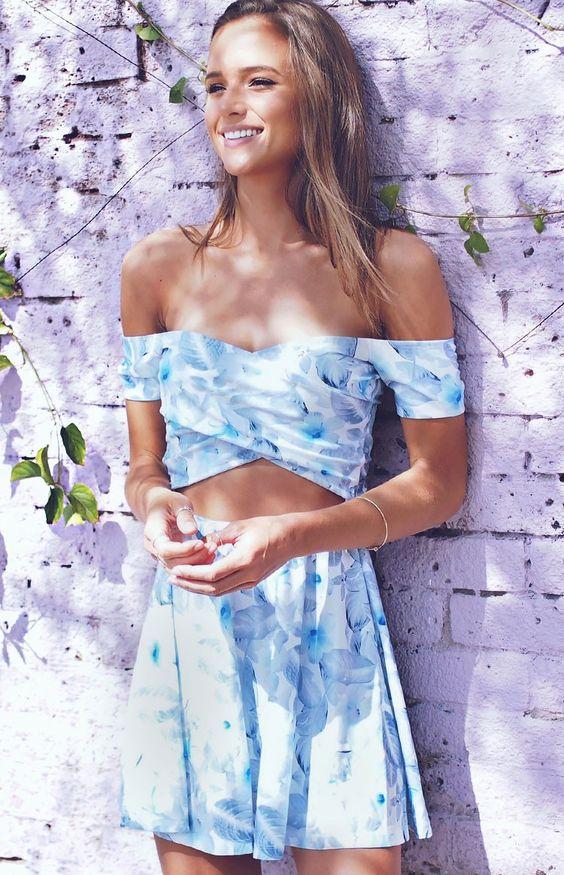 Sophie Dress Blue Floral