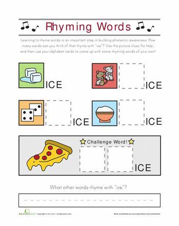 number names worksheets web rhyming words free printable worksheets for pre school children. Black Bedroom Furniture Sets. Home Design Ideas