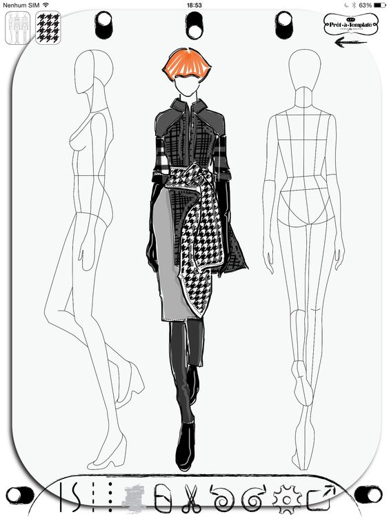 1000 ideas about fashion illustration template on for Blueprint sketch app